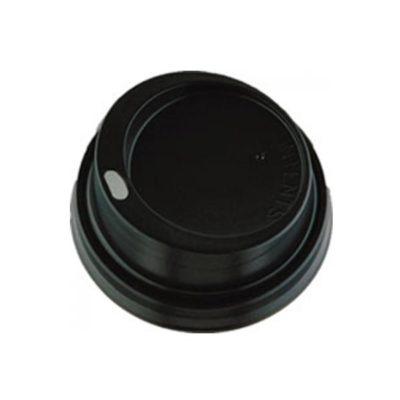 Καπάκι πιπίλα μαύρο για χάρτινο ποτήρι Capuccino 100τμχ